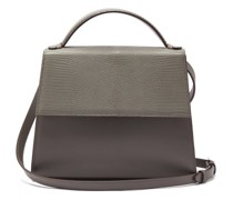 The Top Handle Large Leather And Lizard Bag