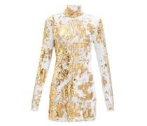 Liona High-neck Sequinned Dress