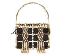 Holli Tresse Crystal-embellished Caged Bag