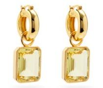 Jubilee Quartz & Gold-plated Hoop Earrings