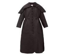 Exaggerated-collar Matelassé Coat