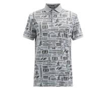 Kv Logo-jacquard Cotton-blend Polo Shirt