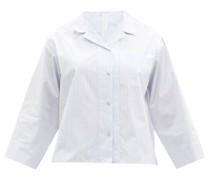 Patch-pocket Striped Cotton Pyjama Shirt