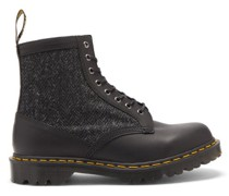 1460 Leather And Harris-tweed Boots