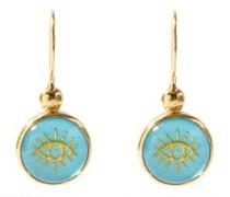 Evil Eye Turquoise & Gold-plated Earrings