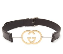 Gg-plaque Leather Belt
