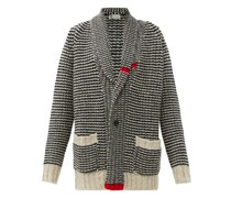 Cappercaille Striped Cashmere Cardigan