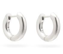 Almost Sterling-silver Hoop Earrings
