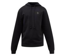 Logo-embroidered Cotton-blend Hooded Sweatshirt