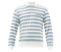 Ventoura Striped-velvet Long-sleeve Polo Shirt