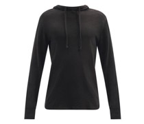 Flame Carded Cotton-jersey Hooded Sweatshirt