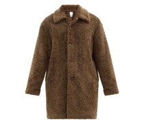 Single-breasted Faux-shearling Coat