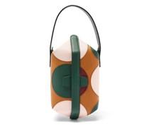 X La Doublej Tric Trac Polka-dot Leather Bag