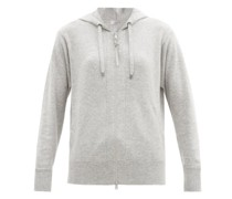 Hooded Zip-up Cashmere Sweatshirt
