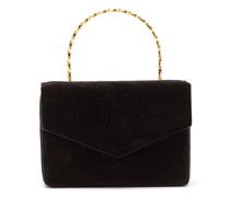 Pernille Crystal-handle Mini Suede Box Bag