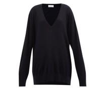 Slouchy V-neck Merino-wool Sweater