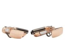 Shotgun Rose Gold-plated Cufflinks