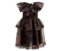 Tiered Floral-print Organza Dress