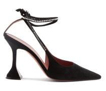 Karma Crystal Ankle-strap Suede Pumps