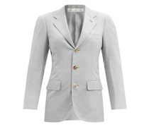 Andy Single-breasted Silk-faille Jacket