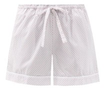 Ledbury 40 Geometric-print Cotton Pyjama Shorts