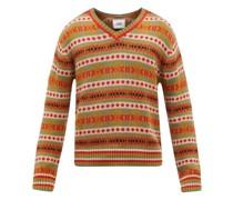 Mystic Isle Geometric-jacquard Cotton Sweater
