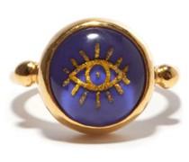 Evil Eye Lapis-lazuli & Gold-plated Ring