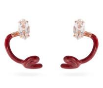 Tendril Crawler 9kt Gold & Enamel Earrings