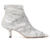 Antoinette Polka-dot Pvc & Leather Boots