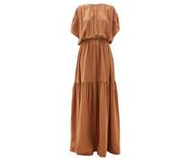 Draped Silk Crepe-de-chine Gown