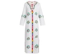 Jasmine Floral-embroidered Cotton Dress