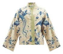 Cassie Upcycled Dragon-embroidered Silk Jacket