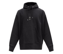 Embroidered Cotton-jersey Hooded Sweatshirt