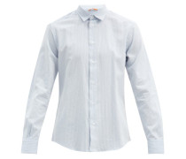 Camicia Pinstriped Cotton-blend Poplin Shirt