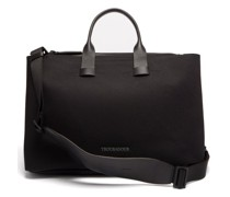 Adventure Leather-trimmed Nylon Tote Bag