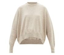 Curved-hem Alpaca-blend Sweater