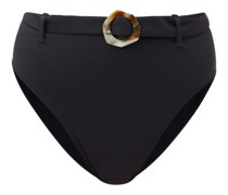 Garbo Belted High-rise Bikini Briefs