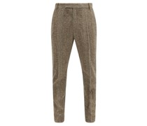 Jasper Prince Of Wales-check Wool-blend Trousers