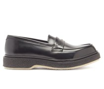 Crepe-sole Leather Penny Loafers
