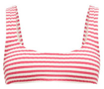 The Elle Striped Ribbed Bikini Top