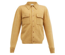 Patch-pocket Wool Cardigan