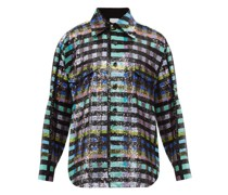 Checked Sequinned Cotton Shirt