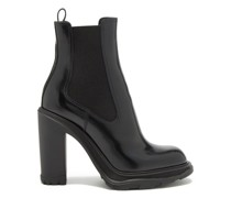 Tread Heeled Patent-leather Chelsea Boots
