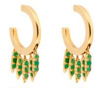 Grass Emerald & 18kt Gold Earrings