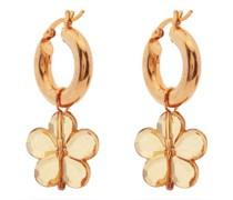 Caroline Flower-bead Hoop Earrings