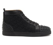 Lou Spikes Canvas High-top Trainers