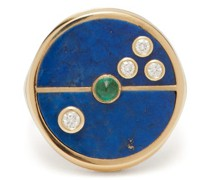 Compass Lapis, Diamond & 14kt Gold Ring