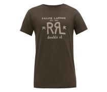 Double -logo Print Cotton T-shirt