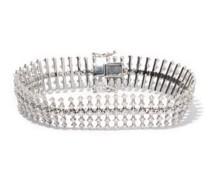 Disco Diamond & 18kt White-gold Bracelet