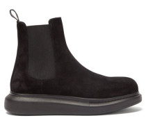 Hybrid Exaggerated-sole Suede Chelsea Boots